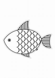 Fische Malvorlagen Ausschneiden Tiere Fisch Zum Ausschneiden Zum Ausmalen Kostenlose