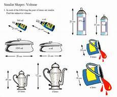 similar shapes volume worksheet using scale factors for