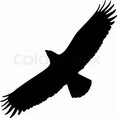 adler basteln mit kindern silhouette of eagle stock vektor eagle silhouette