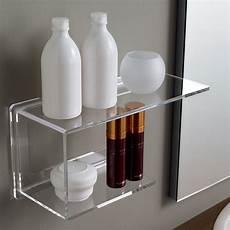 accessori bagno plexiglass scaffale 37 cm in plexiglass trasparente per bagno design