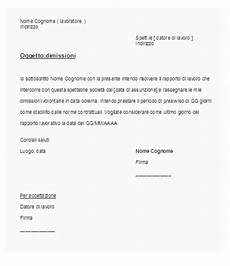 lettere di licenziamento modelli lettera di dimissioni okpedia
