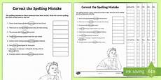 spelling worksheets year 4 australia 22630 year 5 and 6 correct the spelling mistakes worksheet activity