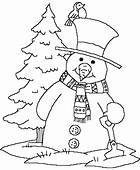 Forest Snowman Print Coloring Pages For Kids Free