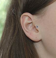 piercing helix et tragus tragus stud silver tragus earring cartilage earring