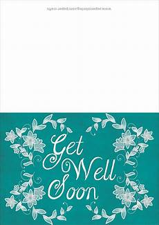 soon card templates get well soon card template free printable papercraft