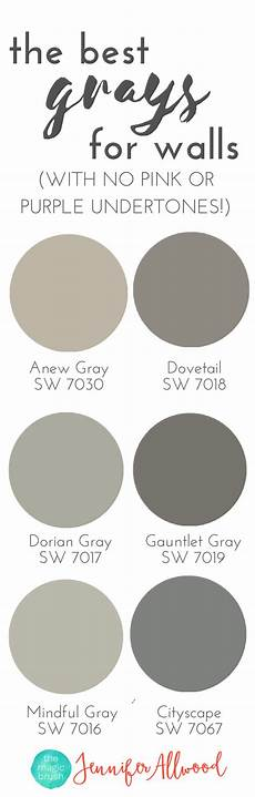 the best gray paint colors for walls with no pink or purple undertones magic brush