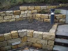 Trockenmauer Sandstein Garden Concepts