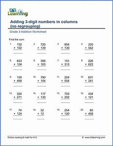 grade 3 math worksheet addition and subtraction grade 3 addition worksheets free printable k5 learning