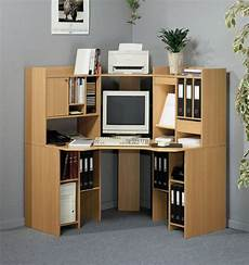 home office furniture corner desk plywood corner computer desk design with file storage