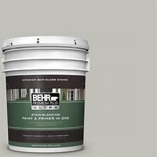 behr premium plus ultra 5 gal ppu25 09 foggy london gloss enamel exterior paint 585005