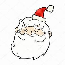 komische weihnachtsmann gesicht stockvektor