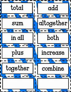 decimal worksheets 7160 free key words for addition subtraction and multiplication and division math key words math words