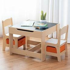 gymax children table chairs set with storage boxes