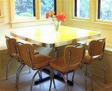 Vintage Kitchen Dinette Sets by Dinette Set Yellow Cracked