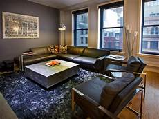 Contemporary Gray Bachelor Pad Deleon Hgtv