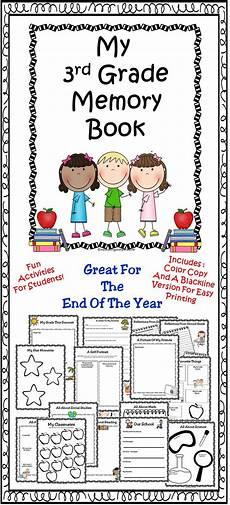 third grade end of year activities end of year memory book 3rd grade activities school kids