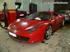Ferrari 458 Italia Wrecked France