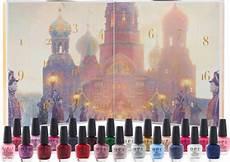 opi nutcracker advent calendar with 24 mini nail polishes