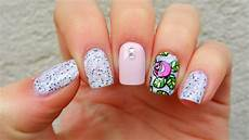 rose nail art design youtube