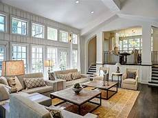 living and large open floor plan white living room traditional decor
