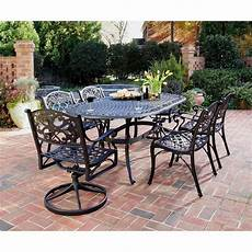 outdoor dining furniture home styles biscayne black cast aluminum patio dining set