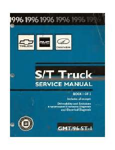 best car repair manuals 1996 chevrolet blazer instrument cluster 1996 chevrolet s10 blazer gmc s15 sonoma jimmy envoy oldsmobile bravada s t platform