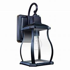 home decorators collection northton 1 light black 180 176 motion activated outdoor wall lantern