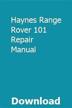 car owners manuals free downloads 1993 land rover defender electronic valve timing haynes range rover 101 repair manual repair manuals nissan maxima range rover