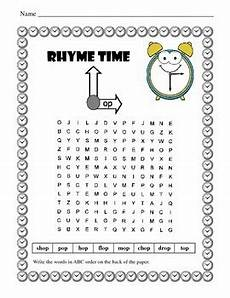 phonics word searches word families rhyming words 1st grade