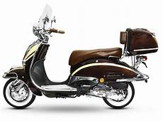 motorroller retro roller scooter 125 ccm 90 kmh braun