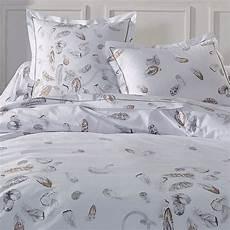 housse de couette motif plume housse de couette et deux taies 240 cm plumes linge de lit eminza