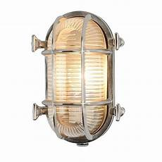 industrial oval chrome outdoor wall light by i love retro notonthehighstreet com