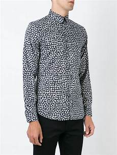 paul by paul smith shirt lyst ps by paul smith star print shirt in gray for men