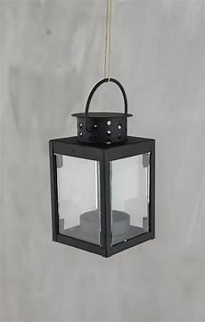 6 black metal tealight lanterns