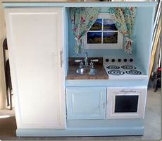 play kitchen from furniture diy play kitchen from an entertainment center my