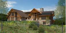 columbia valley timber frame home plan by canadian