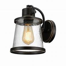 globe electric collection 1 light rubbed bronze led outdoor wall sconce with clear