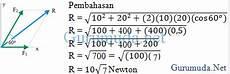 contoh soal menetukan resultan vektor menggunakan rumus cosinus gurumuda net