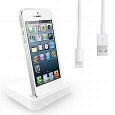 iphone 5 ladestation charging dock desktop stand station charger cable