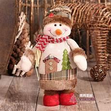 weihnachts figuren schneemann weihnachtsmann elch puppen
