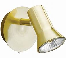 firstlight magnum single spot wall light brushed brass finish 6090bb from easy lighting