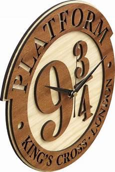 Uhr Malvorlagen Harry Potter Wonderful Platform 9 3 4 Wood Clock Inspired By The Harry