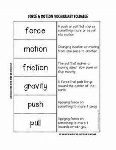 force motion interactive notebook foldable freebie second grade science science classroom