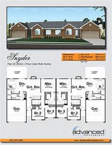 multi family house plans duplex snyder multi family traditional house plan duplex floor