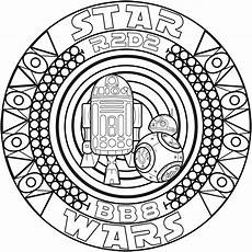 mandala malvorlagen wars mandala bb8 r2d2 coloriages mandalas just color page