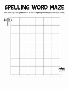 grammar maze worksheets 24882 spelling word maze worksheets printables scholastic parents