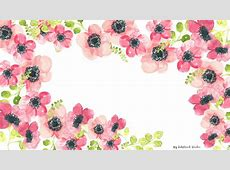 WATERCOLOR FLORAL WALLPAPERS Inkstruck Studio Desktop