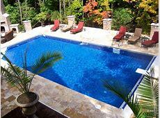 small rectangle pool