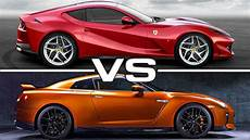 2018 ferrari 812 superfast vs 2017 nissan gt r youtube