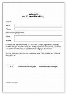Vollmacht Auto Abmelden - downloads